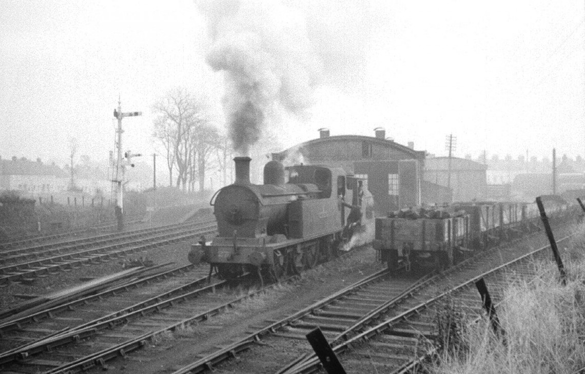 No.27, still a UTA engine, is seen here on Saturday 18th September 1967, hauling the Guinness engine from Carrickfergus goods shed, where it had been stored, before working it to our base at Whitehead. The more economical Guinness engine has now taken the shunting and 'train rides' roles previously filled by