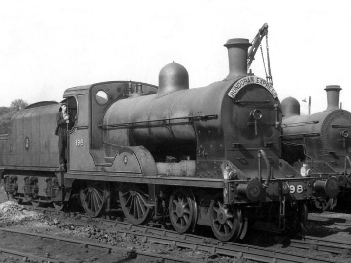 U class No.198 'Lough Swilly' and tender 43 at Dundalk shed after working the 'Bundoran Express'. (A.M. Wright)