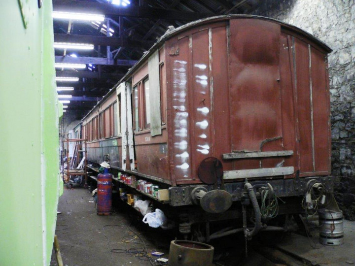 The carriage in Mullingar shed.