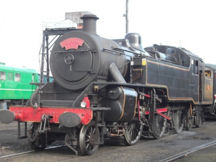10/7/2011: No.4 at Whitehead, being prepared to work the 'Portrush Flyer'. (A. Lohoff)