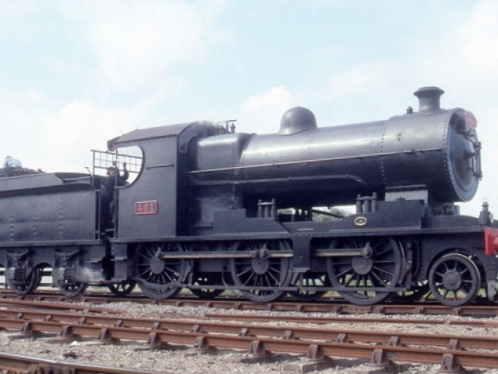 No.461 with replica number and works plates, at Portrush with the 'Portrush Flyer'. (C.P.Friel)