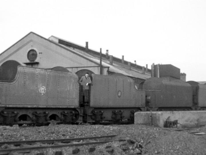8/1/1965: GNR(I) tenders 73, 43, 45, 46 at Dundalk running shed. (J.A. Friel)