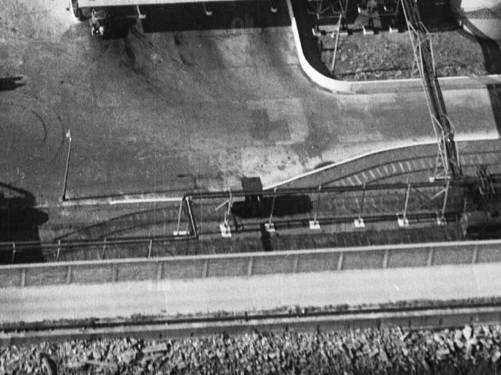 October 1954: An aerial view of the Shell with No.23 right in the middle.