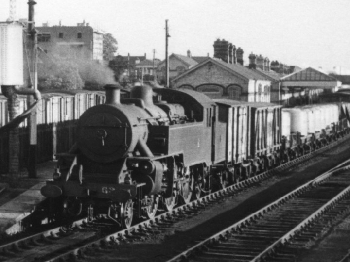 6/9/1961: An unidentified Guinness van at Dundalk in the 8.20pm Dundalk to Portadown goods train. (D. FitzGerald)