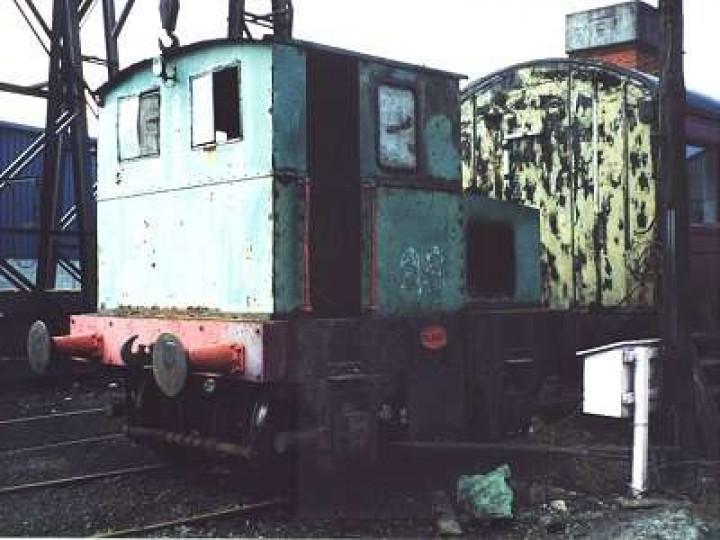 Planet diesel No.23 at Whitehead in 1999. (P.Lockett)