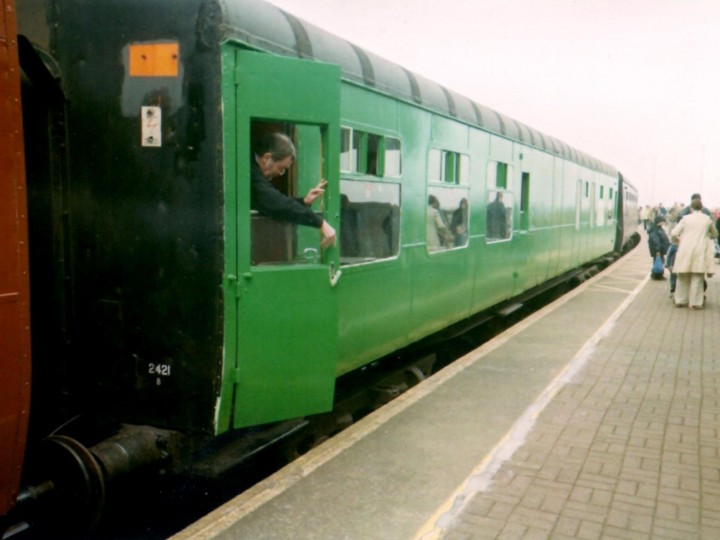 A freshly repainted 2421 at the old Rosslare Europort station on a