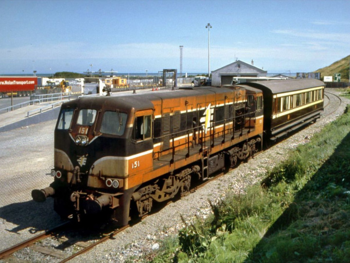 13/8/2006: The coach at Rosslare where it was on display to celebrate the Harbour's centenary. (R. Joanes)