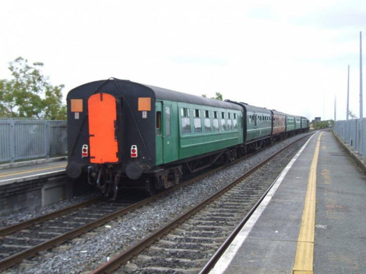 On the rear of a 'Maynooth Shuttle' at Broombridge on 12/9/2010.