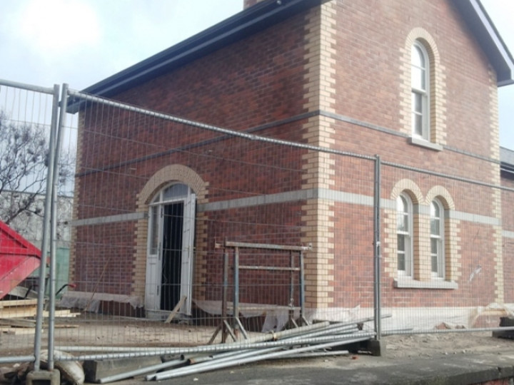 20/2/2013: The 2-storey Larne side of the station. (J. Glendinning)