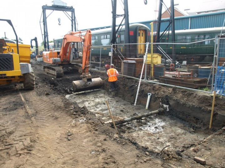 6/9/2013: The inspection pit being excavated. (D. Grimshaw)