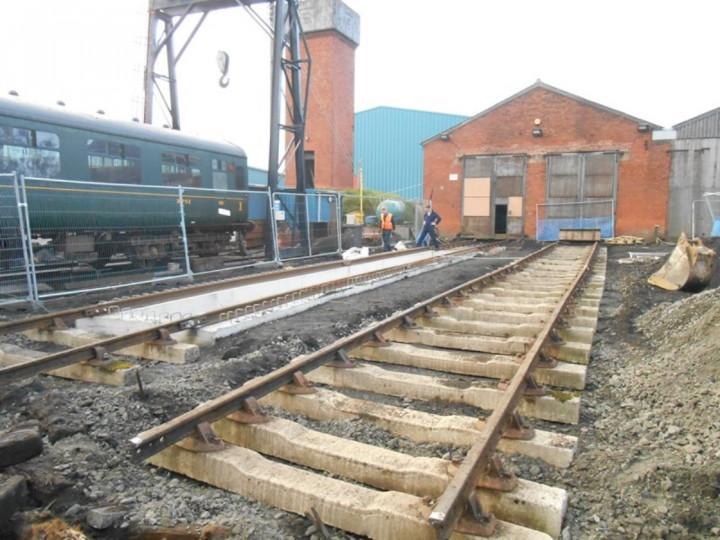 27/9/2013: The track  on No.2 Road which will be buried under the concrete apron. (M. Walsh)