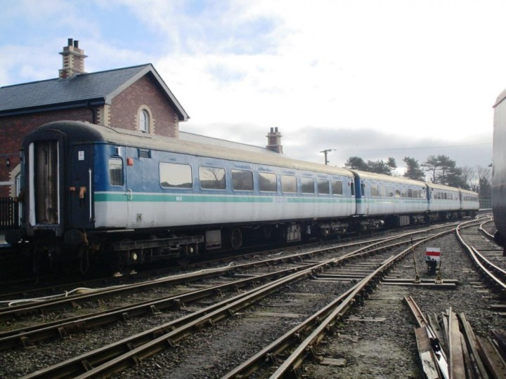 The four coaches reposing at Whitehead, 7/2/2015. (P.McCann)