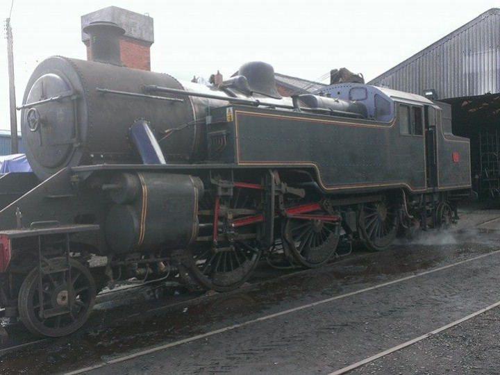28/5/2015: No.4 is prepared for a steam test in advance of its return to traffic. (J. Adams)