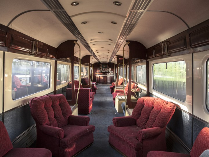 Internally the coach is fitted out as a saloon, complete with full-width bar. (S.Comiskey)