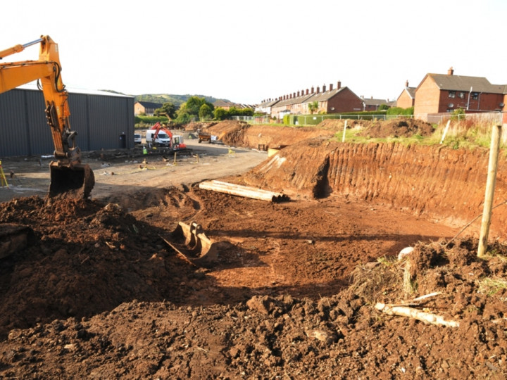 15/10/2015: Excavations for the new turntable have commenced. This is the view look towards Larne. (C.P. Friel)