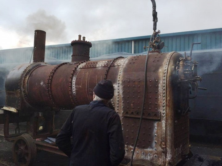 No.3BG's boiler gets its first steam test on 19th March 2016. (A.Davidson)