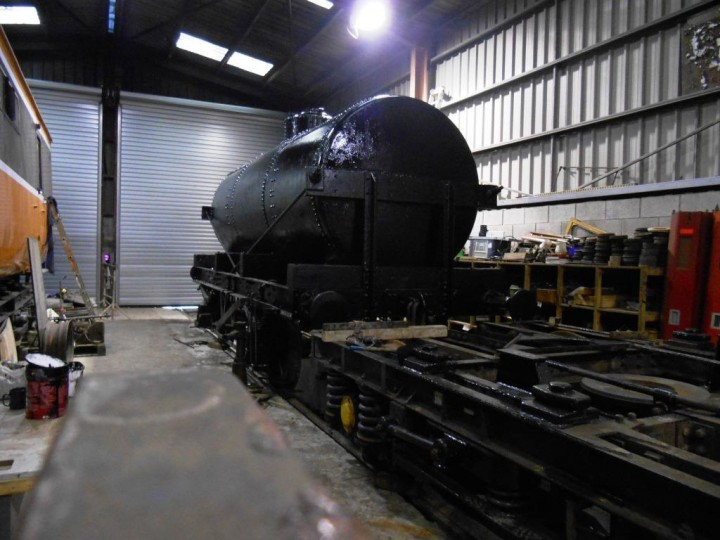 The tank was been completed in black top coat on 5th January 2017. Once it dries, the securing straps can be added and then the signwriter can get to work to essentially finish the job. (M.Walsh)