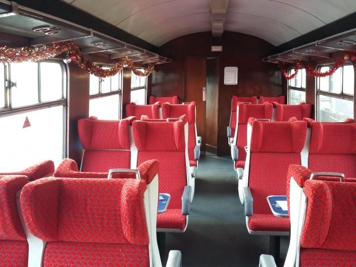 460's refurbished interior on a Santa train on 2/12/2017.