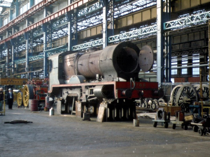 No.85 in the Harland & Wolff engine works, Belfast. Possibly dates from 10th August 1978 when the RPSI organised a visit. (A.Gray)