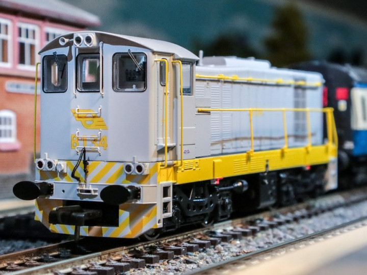 2020: The exclusive B134 model running on a layout with RPSI Cravens carriages.