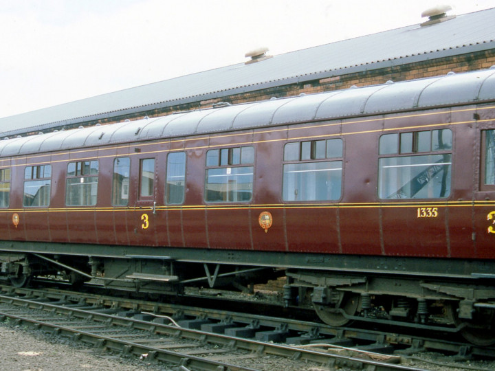 9/8/1987: Belfast CSD, a few days before the 40th Anniversary Enterprise, when the carriage looked absolutely splendid inside and out. (C.P. Friel)