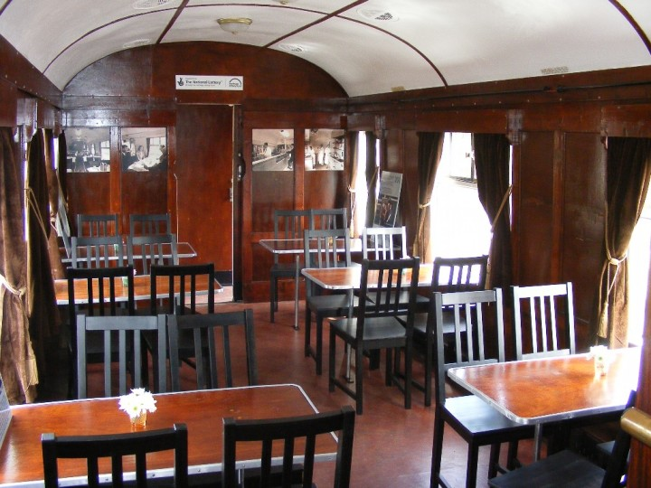 The dining car's conversion and restoration was completed by August 2010.