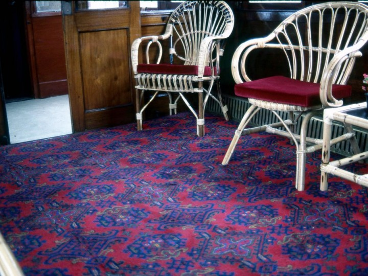 Interior view showing the carpet detail, July 1981. (C.P.Friel)
