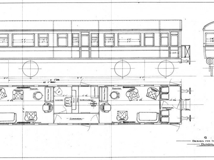 Interior layout in 1911. (A.S,Ragg)