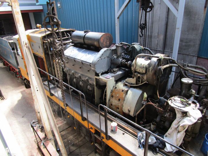 22/5/2021: B142 has had its engine completely stripped and rebuilt and is awaiting return to traffic. Seen in the Wheeldrop Shed.
