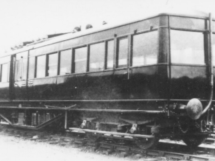 The railcar as it was originally built.