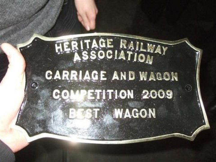 The 2009 HRA award for the restoration of GNR(I) brake van No.81 'Ivan'.