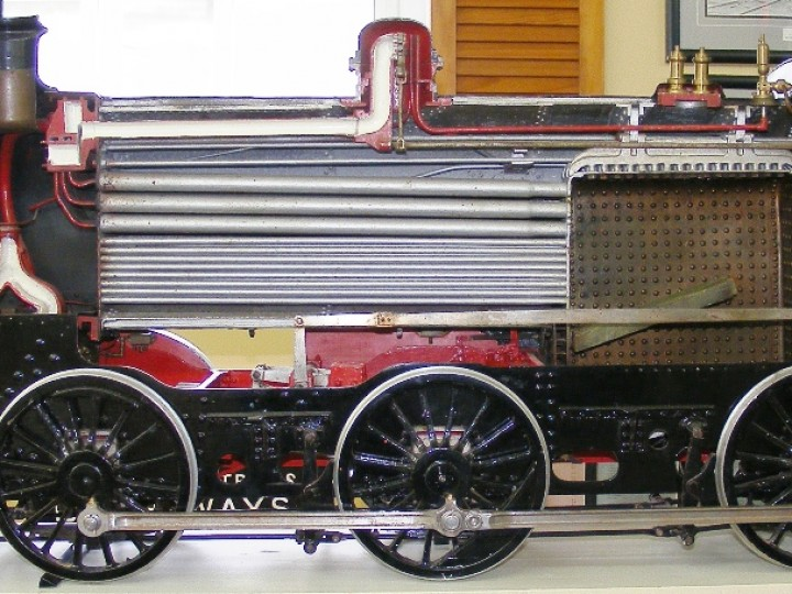 The restored locomotive on temporary display at Headhunters Museum in Enniskillen in 2009.