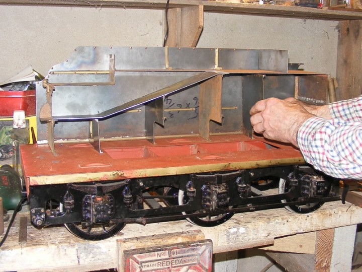 The restored tender nearing completion in 2009.